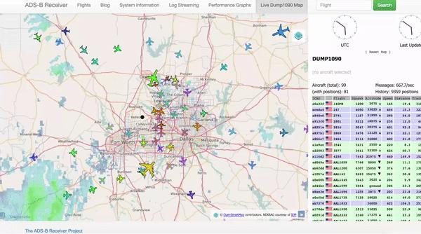 Dump1090 Map View