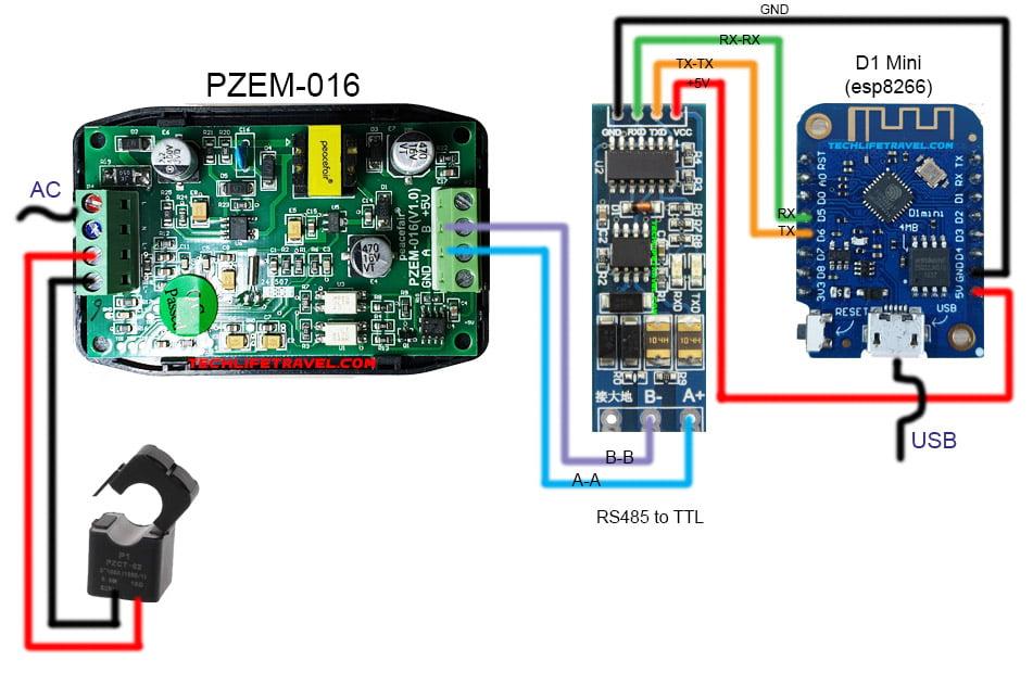 pzem-016-rs485-ttl-esp8266-d1-mini